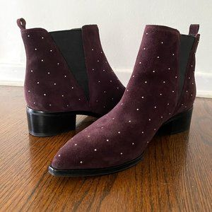 MARC FISHER - Yanaba Dark Purple Booties (sz 9)